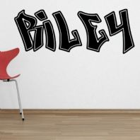 Personalised Children's Graffiti Name Wall Sticker Decal